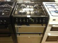 Black 60cm gas cooker