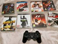 Ps3 wireless controller an 9 games