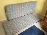 Foldaway spare single bed base and mattress
