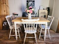 Farmhouse table and chairs