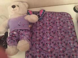 Build a Bear with clothes, shoes and other items