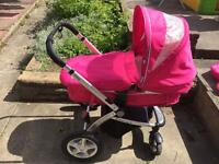 Mothercare MY4 pink pram