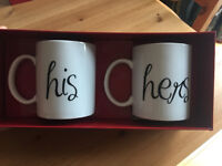 Two Clintons Mugs 'His & Hers' **New in Box**