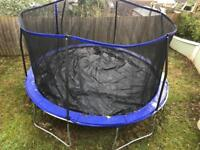 8 months old trampoline with extras included for free