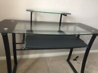 Lovely black glass computer table