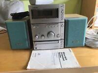 Sony 50w per channel micro hifi - CD, Tape, FM/AM tuner, speakers, remote etc