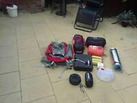 2 man tent all u need cooker self inflating mattress 10 bottles gas sleeping bag bivvy pots pans