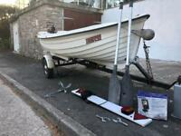 12 foot boat maxcraft with trailer, engine, fish finder, anchor, oars-ready to go!