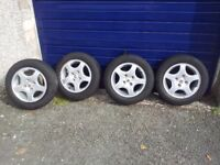 Set of 4 Alloy Wheels with Tyres