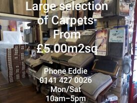 CARPETS MASSIVE RANGE £5 perm2(many greys to choose from) IN STOCK
