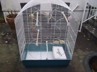 Bird Cage Good Condition Expensive When New With Toys as Shown Ferplast Make