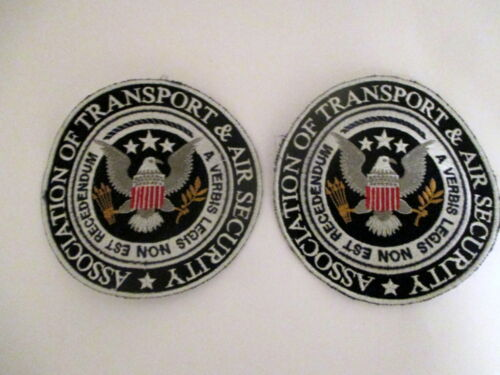 2 U.S. ASSOCIATION OF TRANSPORT & AIR SECURITY US EAGLE MOVIE/TV STUDIO PATCHES