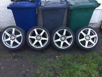 "Ford escort,Fiesta,focus,puma 17"" alloys,£130,no offers"