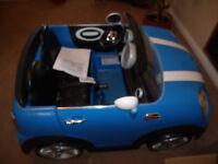 mini cooper 12v ride in 2 seater kids car