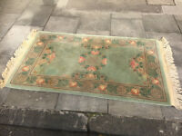 Chinese style rug, thick pile . Does need a steam clean. Size 5ft x 3ft.