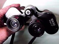 Zenith 10x50 Field 5 Binoculars, case and caps.