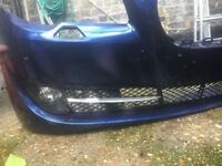 BMW F10 F11 (5 SERIES) (Genuine) Front Bumper with lower light housing (fogs) and grills