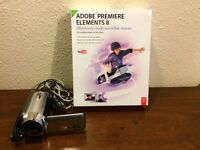 Panasonic Camcorder SDR-H80 with Adobe Elements 8 software.