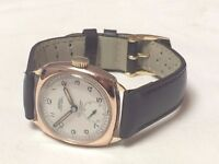 vintage 9k 9ct solid rose gold Rotary super sports mens swiss watch