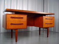 Retro Wooden Desk Vintage G-Plan Furniture X