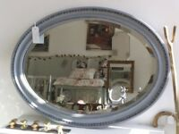 Antique Oval Carved Decorative Mirror.