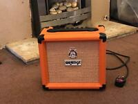 Guitar amp orange crush 12L excellent condition.