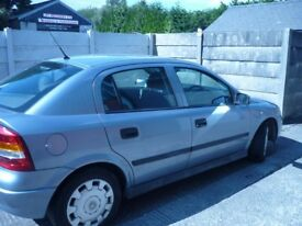 Vauxhall Astra Automatic 1.6 petrol 4 door 2004. 52,600 miles 12 months MOT