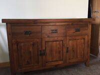 Lovely Dark Mango Solid Wood Sideboard (matching TV unit available)