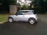 SILVER MINI ONE 16I maybe part exchange and cash for smaller car