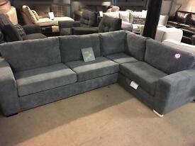 Brand new charcoal corner sofa