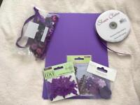 Purple craft items suitable for weddings etc