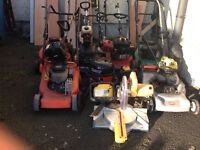 Petrol Lawn Mowers/Petrol Strimmers/Petrol Hedge Cutters/Power Washers.