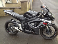 2006 Suzuki GSXR 600 with loads of extras