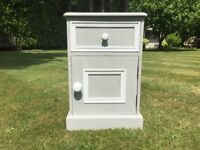 Hand Painted Solid Pine Bedside Cabinet