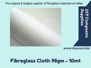 10mt x 98gm-150gm Fibreglass Cloth 1mtr. wide - (FREE FREIGHT) For EPOXY & Poly