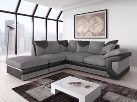 GREAT LOOK GERMAN FABRIC #SOFA OR 3 AND 2 SEATER SOFA BLACK AND GREY OR BROWN AND BEIGE