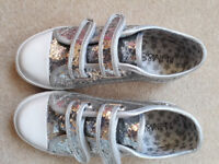 Girls Silver Pumps from M&S, size 13