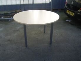 SVEN CHRISTIANSEN BEECH ROUND OFFICE MEETING TABLE VERY GOOD CONDITION