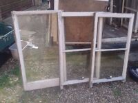 """FREE 8 X WOODEN WINDOWS INCLUDING GLASS PANES,24"""" X 39""""/46""""X 55"""" FRAMES SHED GARAGE BUILDING PROJECT"""