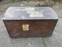 Wooden trunk chest curved too