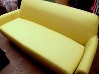 3 seater sofa in saffron yellow- MADEcom - new-ex display