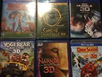 3D and Blu Ray movies