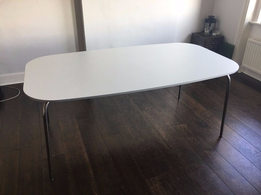 Ikea Grimle White Dining Table
