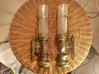 Vintage train carraige lamps