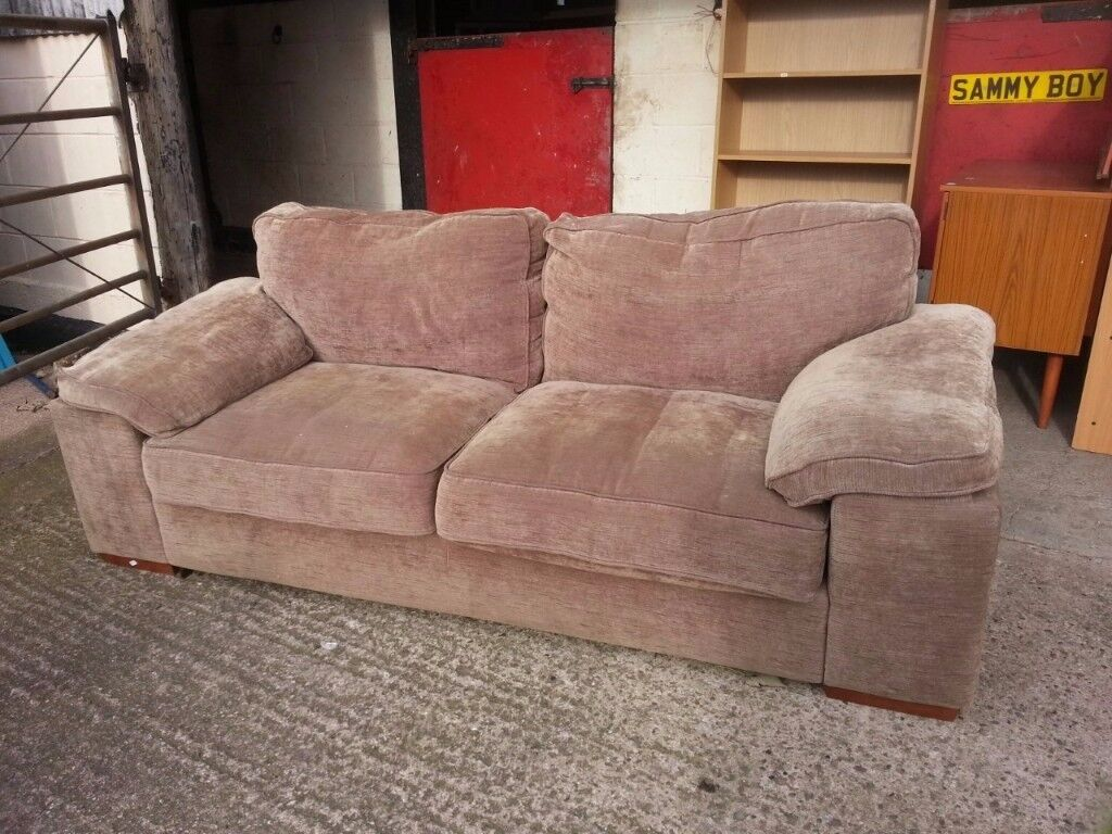 3 Seat Fabric Cord Sofa Good Condition Delivery Available
