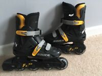 Bauer FX1 in-line skates - black and yellow. Size 3