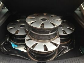 "4 x 16"" Ford Focus Steel Wheels with Wheel trims"