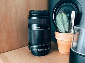 FOR SALE: Canon EFS 55-250mm Telephoto DSLR Lens.