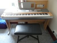 Yamaha DGX 620 Electric piano, with music stand and stool. Used but as new condition.