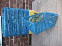 Large plastic baskets 26cmx37cmx15cm